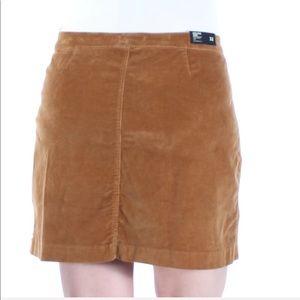 Buffalo David Bitton Brown Zippered Mini Skirt 32